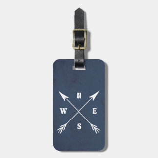 Compass arrows luggage tag