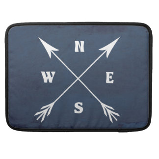 Compass arrows sleeve for MacBook pro