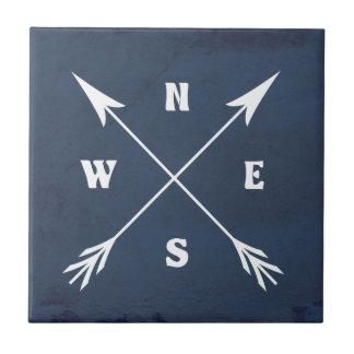 Compass arrows tile