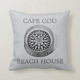 Compass Cape Cod Beach house Pillow