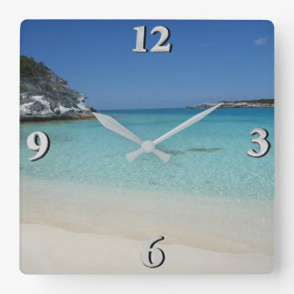 Compass Cay Square Wall Clock