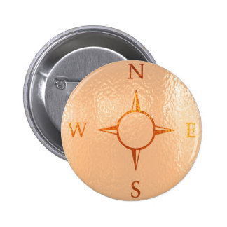 COMPASS East West North South NEWS 6 Cm Round Badge