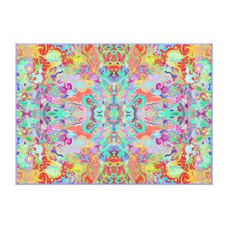 Compass Fractal Multi-colour Large Thick Canvas Canvas Print