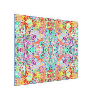 Compass Fractal Multi-colour Optimum Canvas Canvas Print