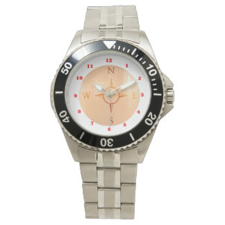 COMPASS Gold : NEWS East West North South Wristwatch