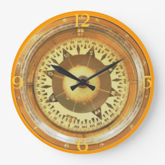Compass Large Clock