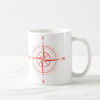 Compass Nautical Travel North South East West Basic White Mug