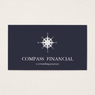 Compass Navy Blue Nautical Financial Advisor