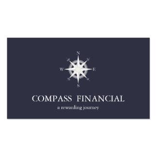 Compass Navy Blue Nautical Financial Advisor Pack Of Standard Business Cards