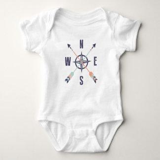 Compass points baby bodysuit