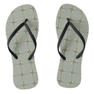 Compass Print Camp Camping Hiking Outdoors Gift Thongs