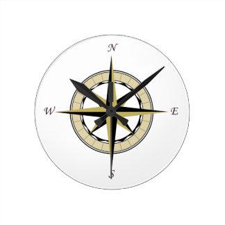 Compass Rose Art Clock
