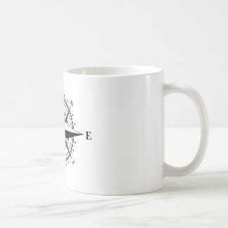 Compass Rose - Black & White Coffee Mug