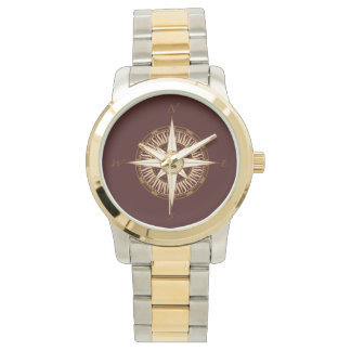 Compass Rose Brown Watch
