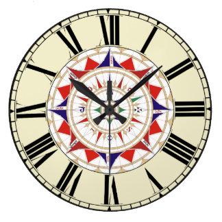 Compass Rose Clocks