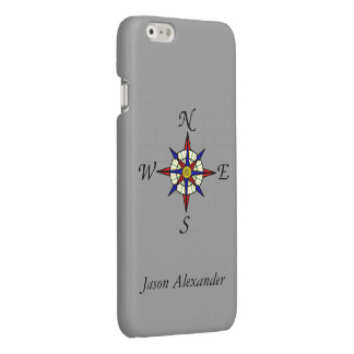 Compass Rose Gray Personalized