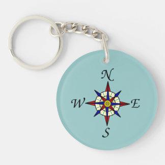 Compass Rose Key Chain Acrylic Keychain