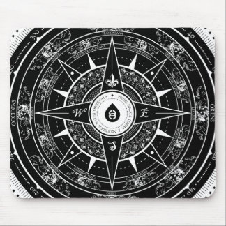 Compass Rose - Mousepad (Black)
