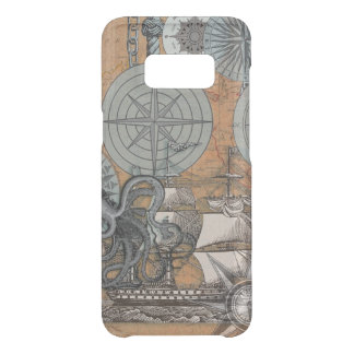 Compass Rose Nautical Art Print Ship Octopus Uncommon Samsung Galaxy S8 Case