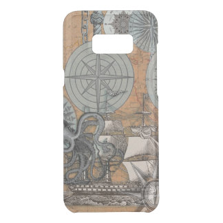 Compass Rose Nautical Art Print Ship Octopus Uncommon Samsung Galaxy S8 Plus Case
