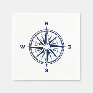 Compass Rose Nautical Style Disposable Napkin