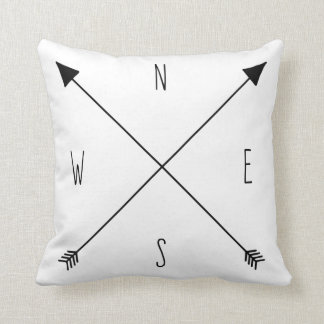 Compass Rose - North South East West Arrows Cushions