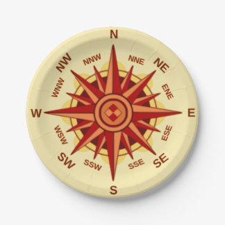 Compass Rose Paper Plate