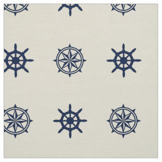 Compass Rose Ship Wheel pattern fabric