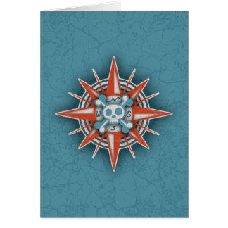 Compass Rose Skull III Cards