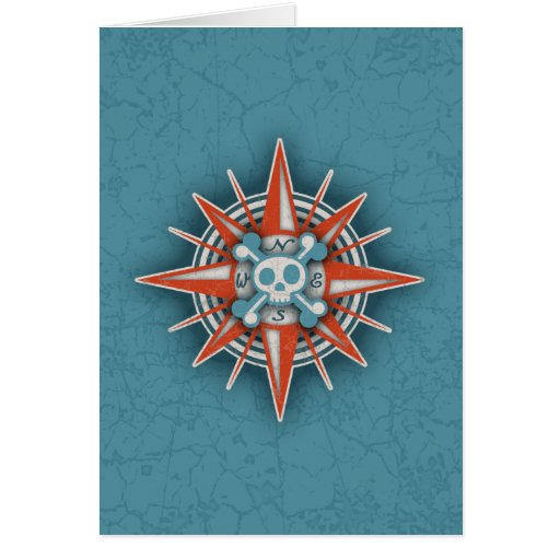Compass Rose Skull III Cards