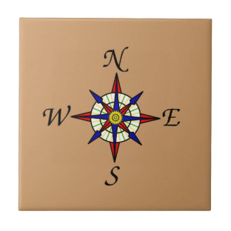 Compass Rose Tan Tile