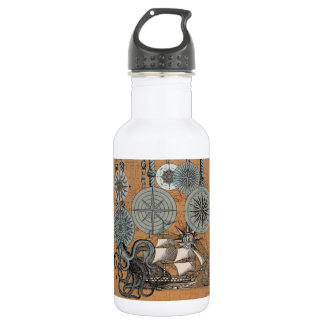 Compass Rose Vintage Nautical Art Print Graphic 532 Ml Water Bottle