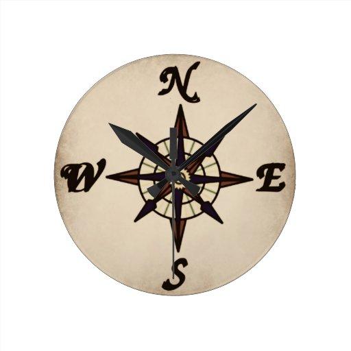 compass rose wall clock zazzle