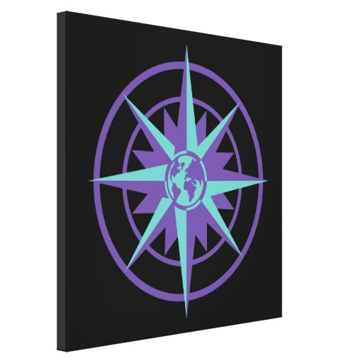 Compass Rose with Globe Canvas Print
