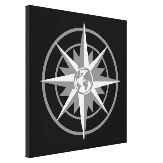 Compass Rose with Globe Canvas Prints