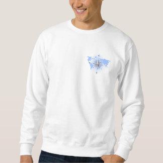 Compass Rose World Map Mens Sweatshirt