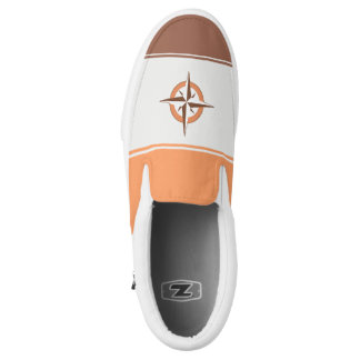 Compass Rose Zipz Slip On Shoe Printed Shoes