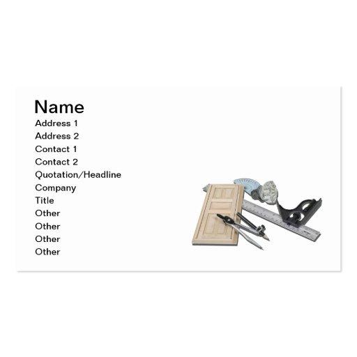 Compass Ruler Door Doorknob Business Card Template