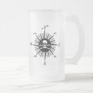 Compass Skull Beer Mug
