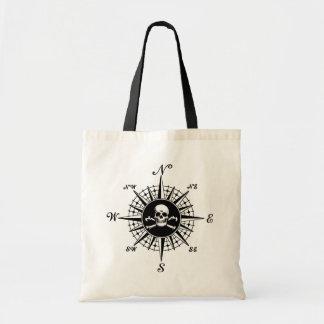 Compass Skull Canvas Bag