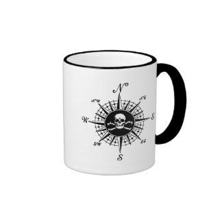 Compass Skull Coffee Mugs