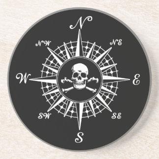 Compass Skull Drink Coaster