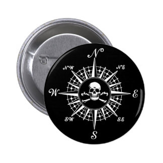 Compass Skull Pin