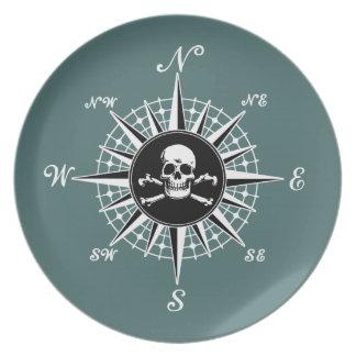 Compass Skull Plate