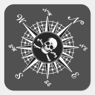 Compass Skull Stickers