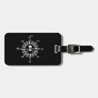 Compass Skull Travel Bag Tag
