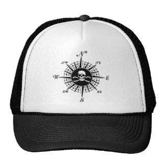 Compass Skull Trucker Hat