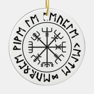 Compass Viking Ceramic Ornament