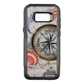 compass vintage map OtterBox commuter samsung galaxy s8+ case
