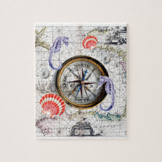 Compass Vintage Nautical Jigsaw Puzzle